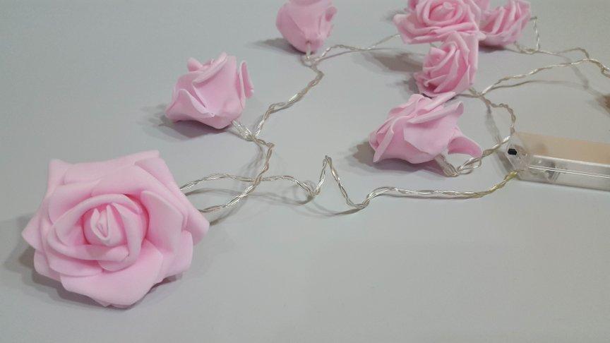 Decoratiune Led Trandafiri Roz