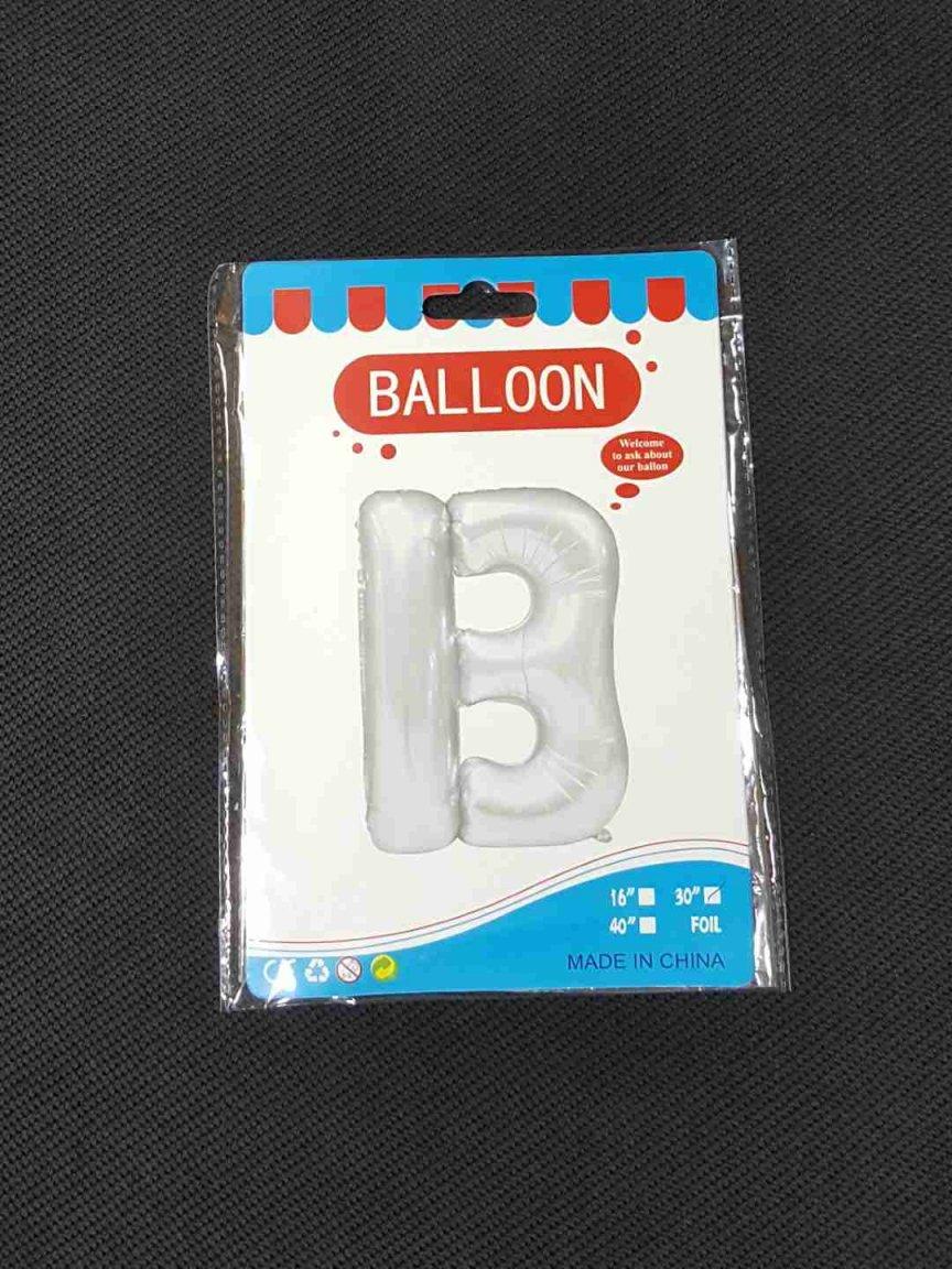 Balon Argintiu Litera B