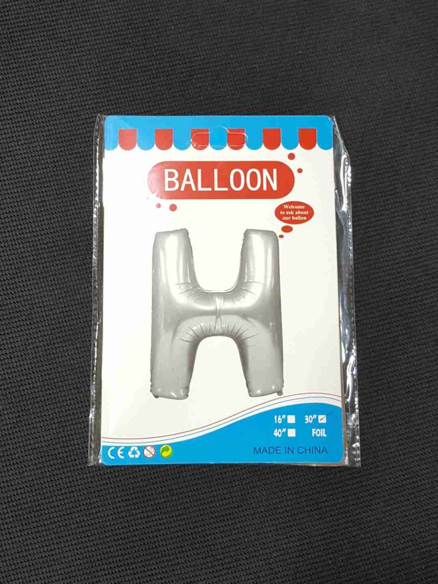 Balon Argintiu Litera H