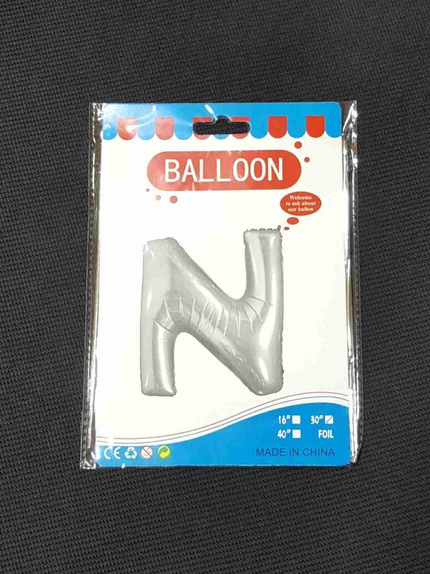Balon Argintiu Litera N