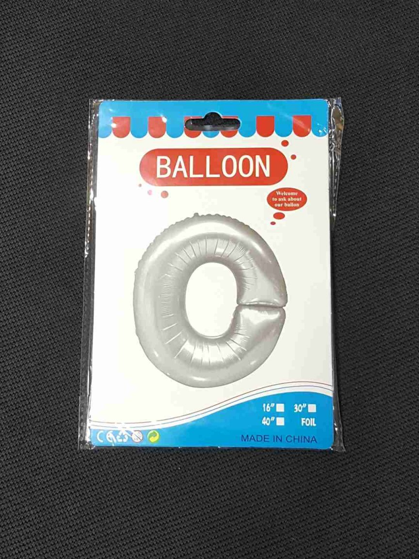 Balon Argintiu Litera O