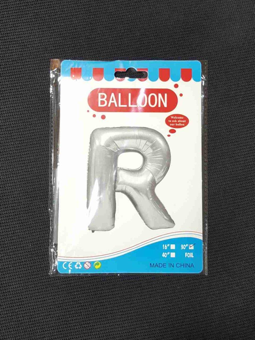Balon Argintiu Litera R