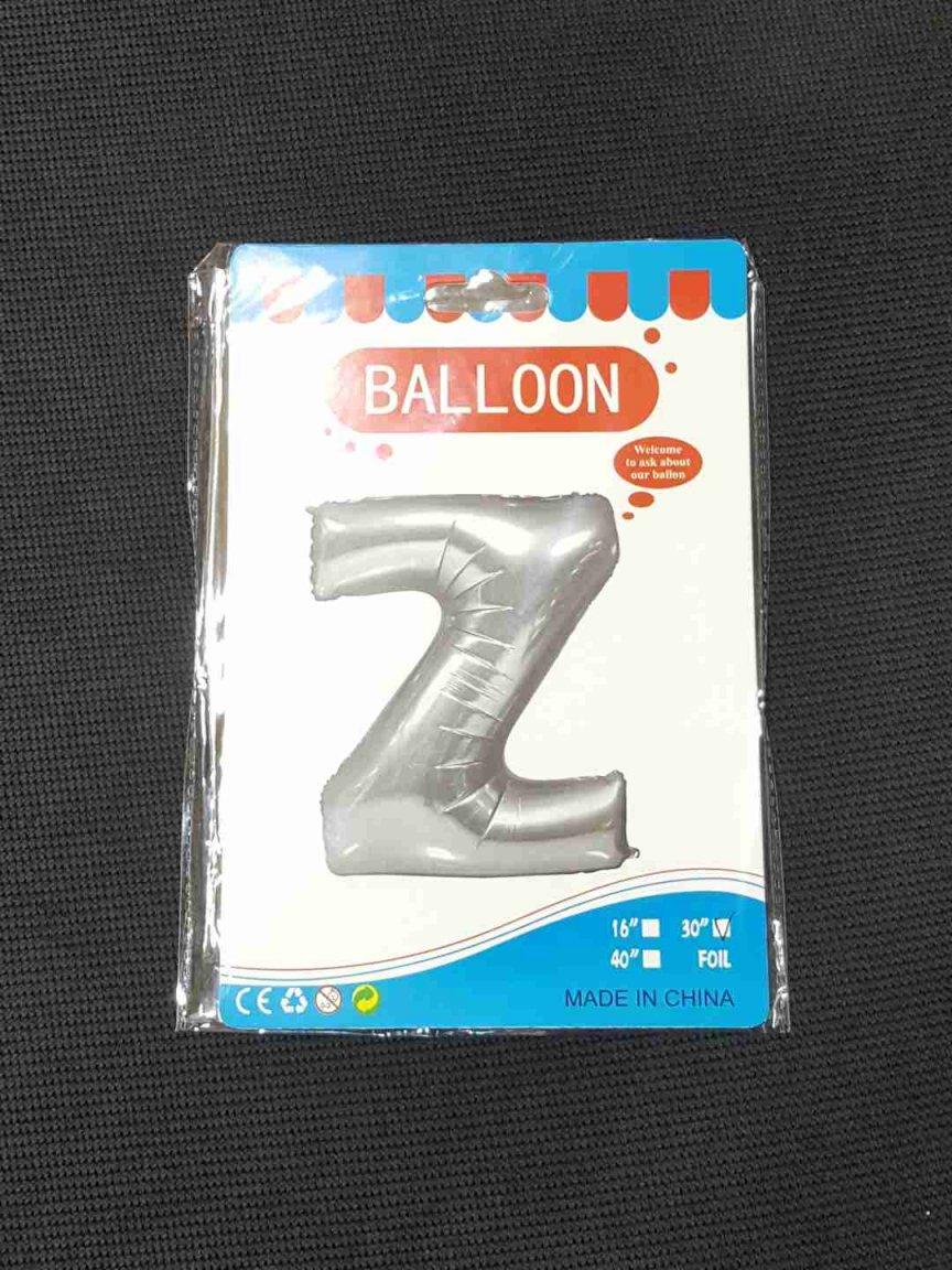 Balon Argintiu Litera Z