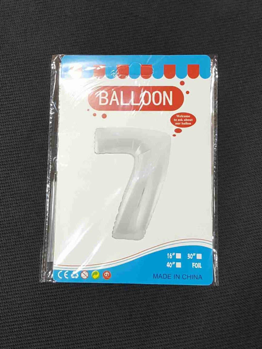 Balon Argintiu Cifra 7