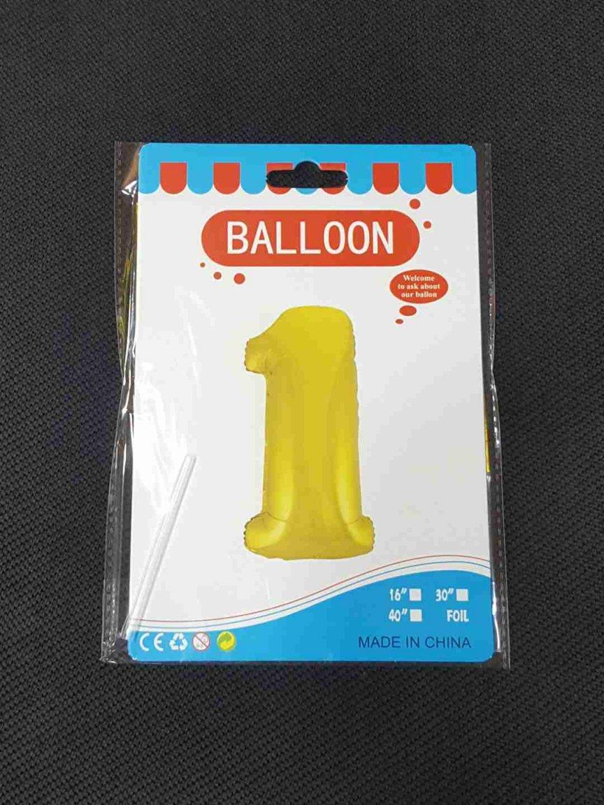 Balon Auriu Cifra 1