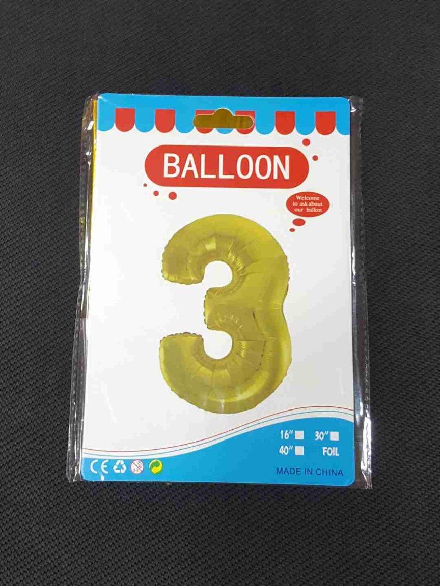 Balon Auriu Cifra 3