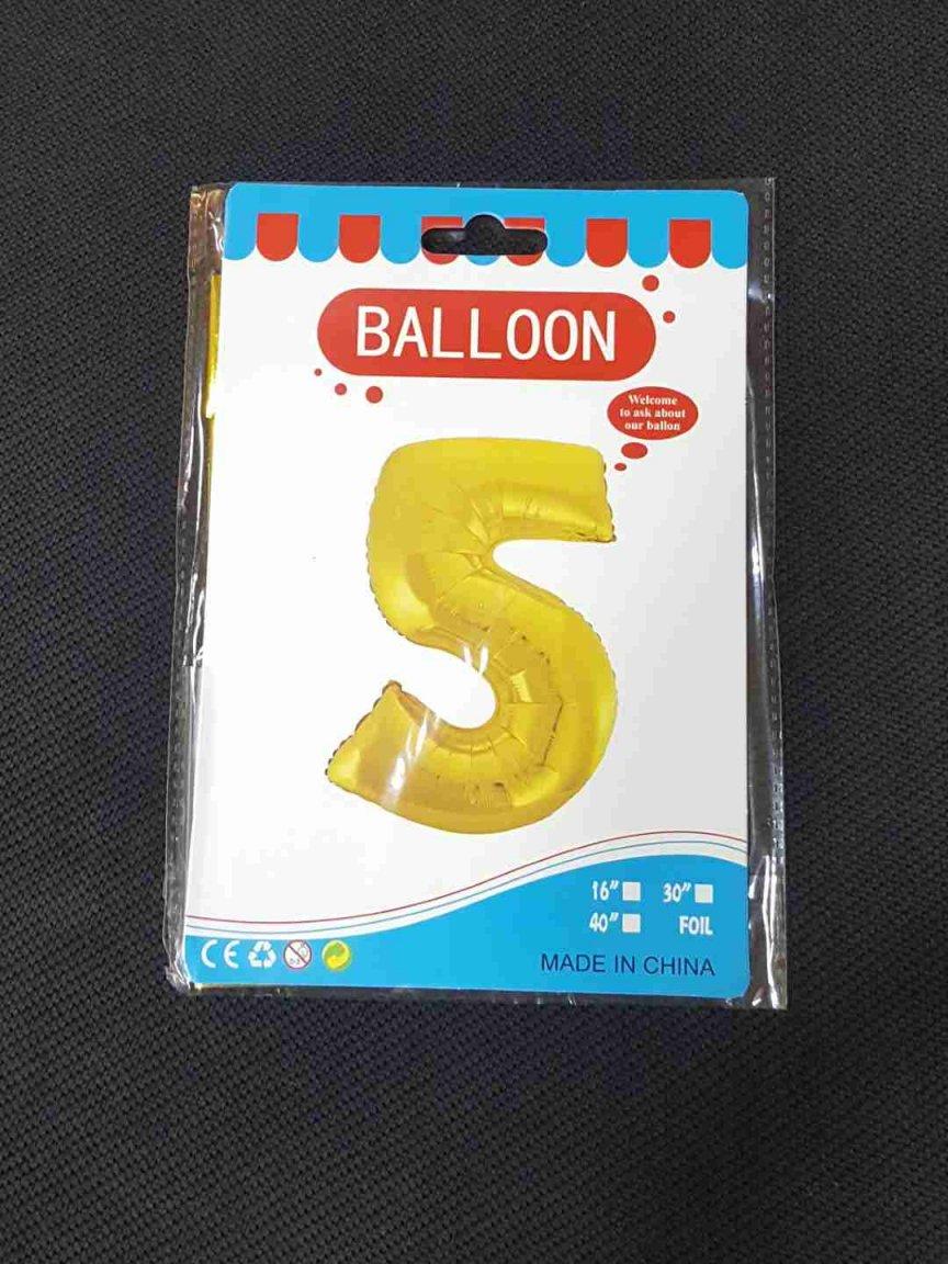 Balon Auriu Cifra 5
