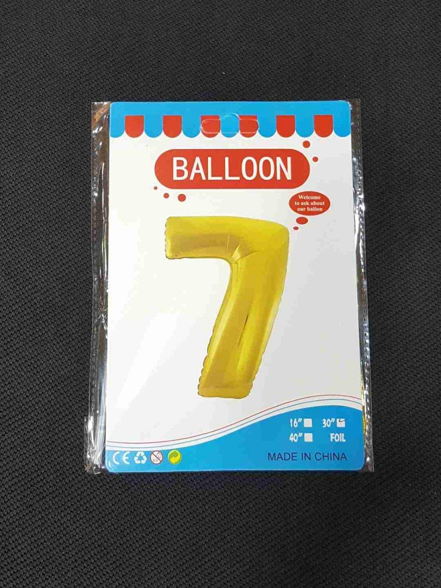 Balon Auriu Cifra 7