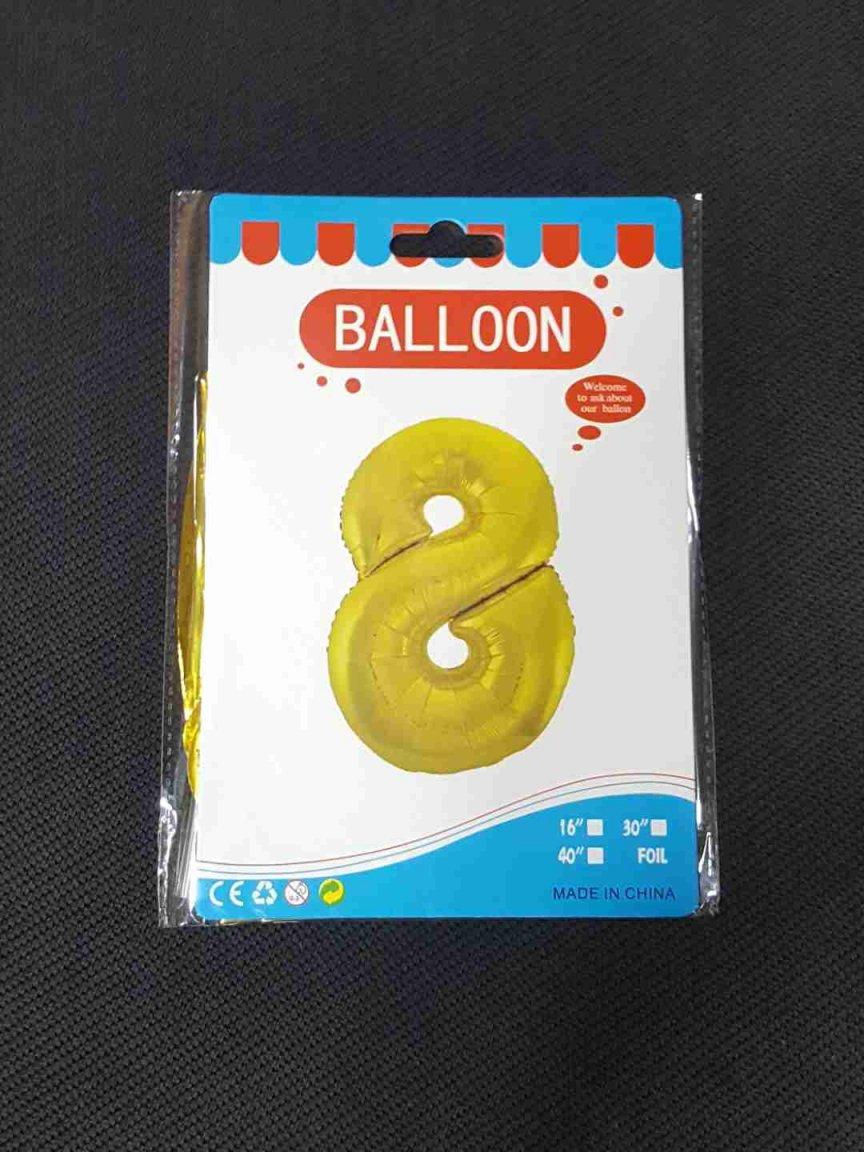 Balon Auriu Cifra 8