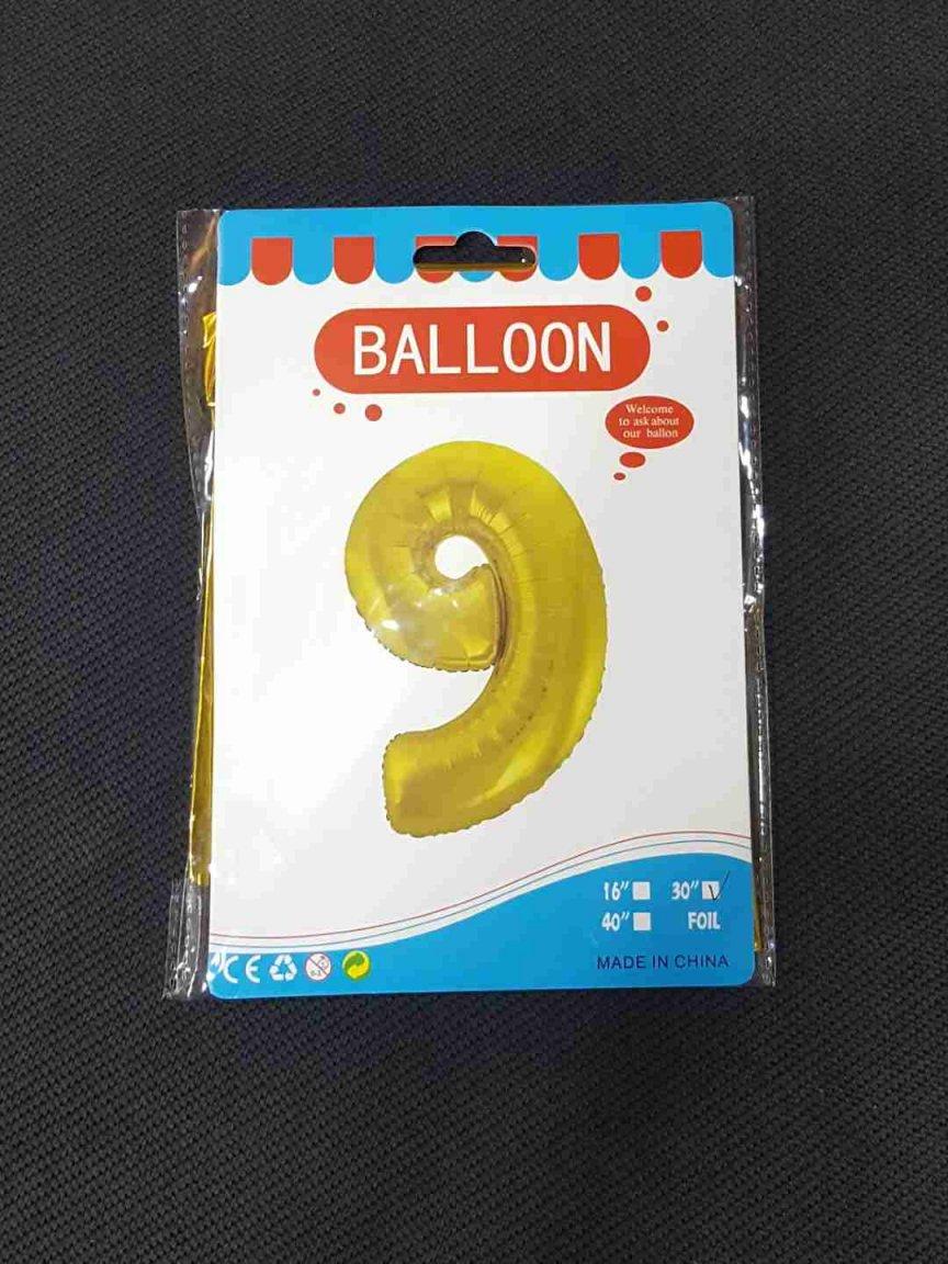 Balon Auriu Cifra 9