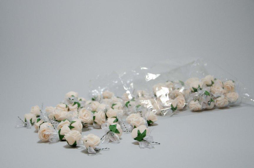 Cocarde trandafir somon