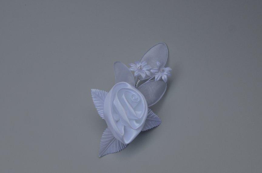 Floare nunta F saten alb