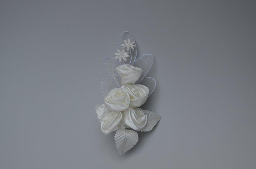 Floare Nunta G Saten Ivory