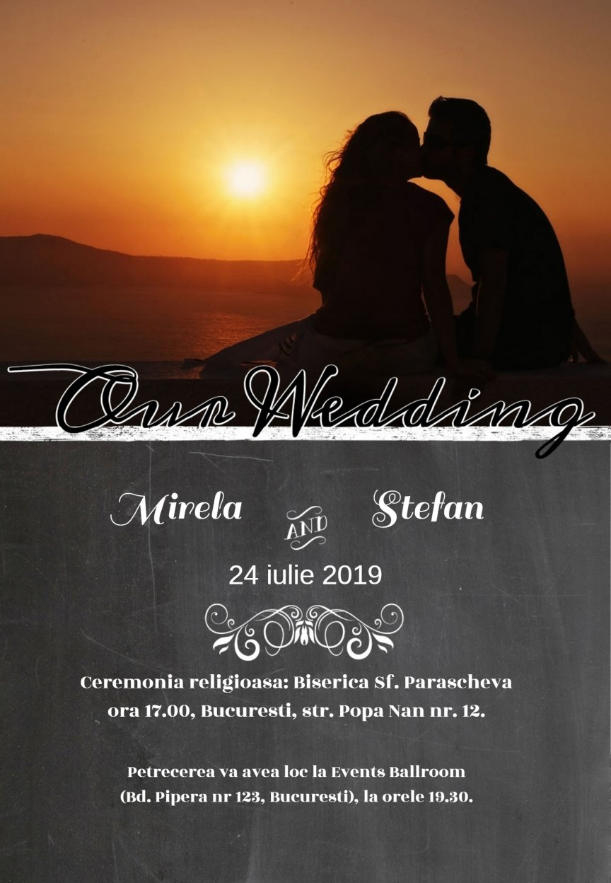 Invitatie Nunta Electronica Our Wedding