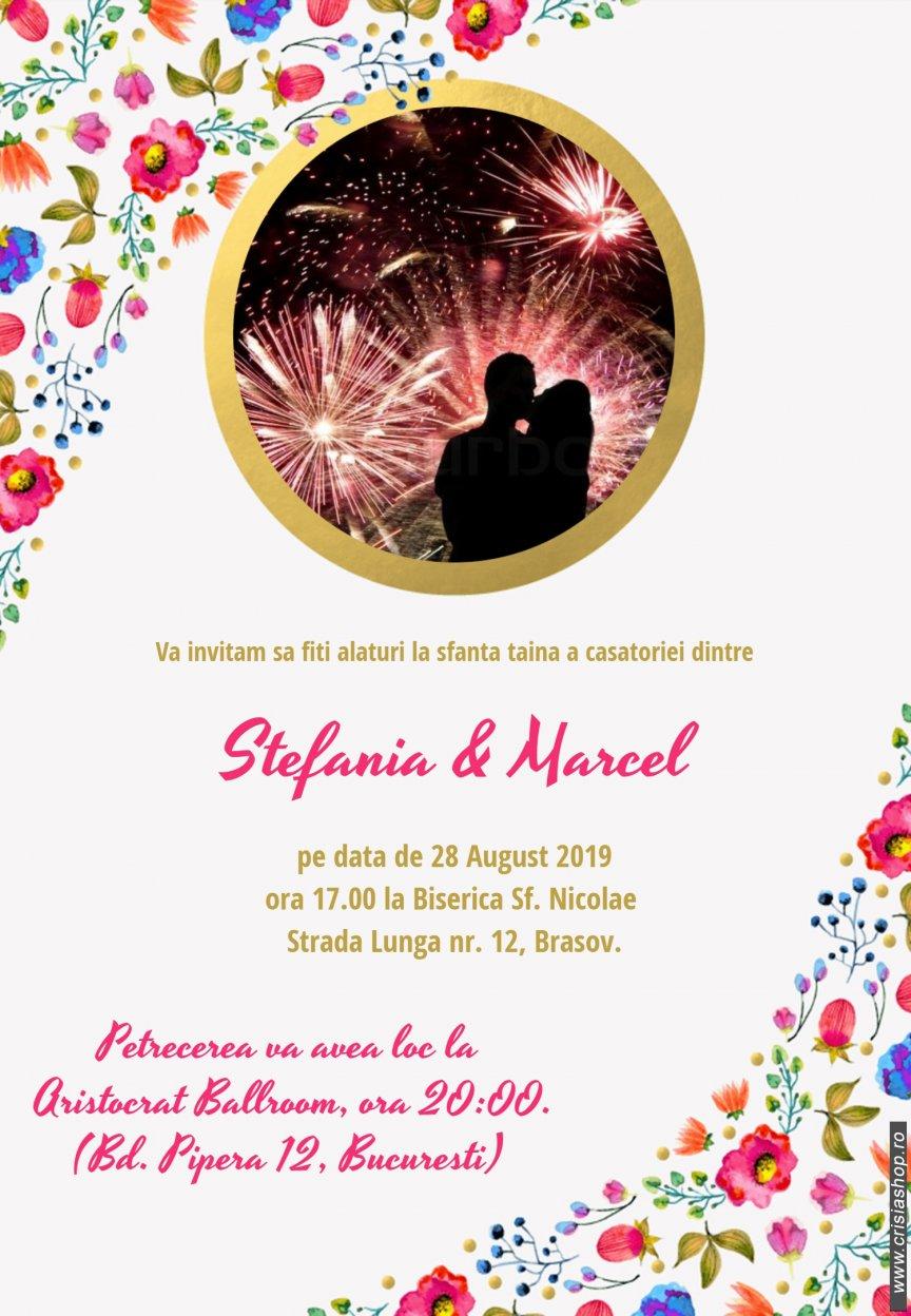 Invitatie Nunta Electronica Flowers