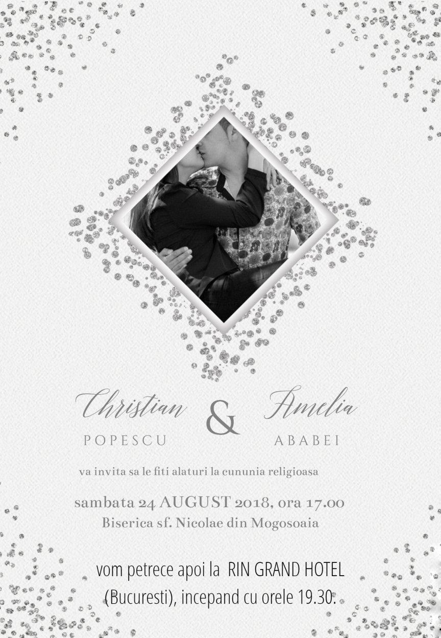 Invitatie Nunta Electronica Diamant